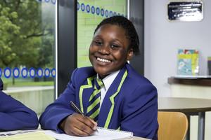 Smiling girl student