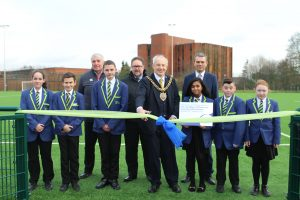 Pitch opening Lord Mayor cuts ribbon 300x200