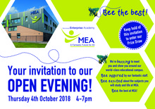 Mea bee open evening invitation sept18 1