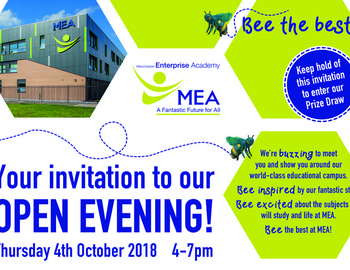 Open Evening - Thursday 4 Oct 2018 4-7pm